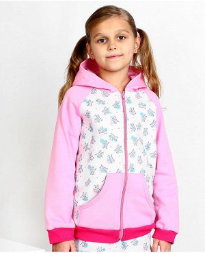 Розовый джемпер для девочек Цвет: серо-розовый