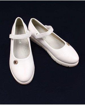 Туфли для девочки, белые р.29-36 Цвет: белый