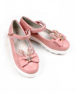 Туфли розовые для девочки Цвет: розовый