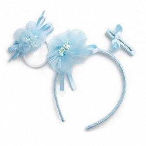 Комплект аксессуаров для волос для девочек: ободок, резинка,заколка