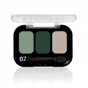 Parisa Тени ( Трехцветные ) Е-403 № 07 Перламутр зеленый кремовый