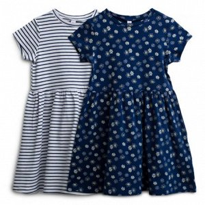 Платье трикотажное для девочек 2 шт. в комплекте 140
