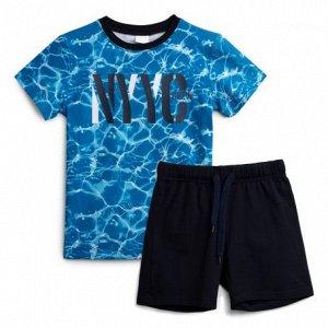 Комплект трикотажный для мальчиков футболка шорты