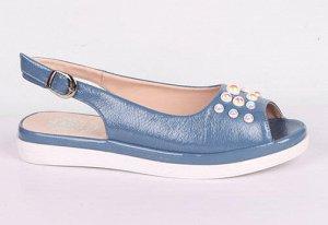 9B033-01-8-8 синий (Иск.кожа/Иск.кожа) Туфли летние открытые женские 8п
