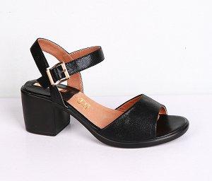 8B017-01-1-8 черный (Иск.кожа/Иск.кожа) Туфли летние открытые женские