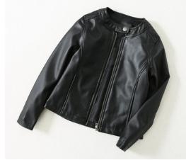 Куртка эко. Кожа,чёрная.