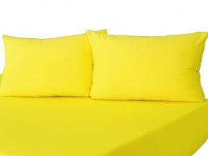Комплект трикотажных наволочек на молнии Желтый 50х70
