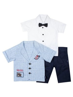 Комплект для мальчика: рубашка с бабочкой, штанишки и пиджак-рубашка