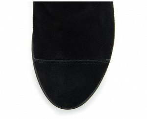 Ботинки замша черный демисезон