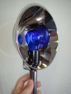 Лампа синяя модерн