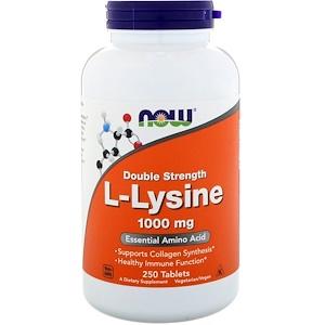 Now Foods, L-Lysine, 1,000 mg, 250 Tablets