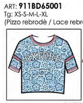 Футболка T-SHIRT IN PIZZO CON PATCH