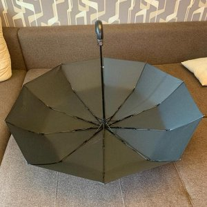 Зонт Мужской зонт в 3 сложения, полный автомат. Модель прочная, надёжная.  Ручка крючок, выполненная под кожу, удобна и дорого смотрится. Каркас зонта выполнен из 10 спиц, за счет чего зонт имеет хоро