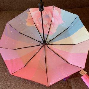 Зонт Женский зонт в 3 сложения, полный автомат. Модель прочная, надёжная.  Каркас зонта выполнен из 9 спиц, за счет чего зонт имеет хорошую натяжку  купола и выдерживает сильные порывы ветра. Зонт име