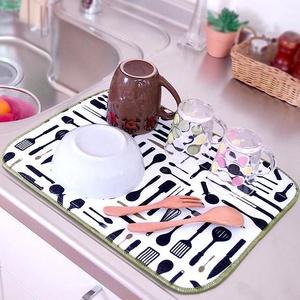*Распродажа июля*Распродажа Вашей любимой каменной посуды! — Коврики для сушки посуды   — Кухонные полотенца