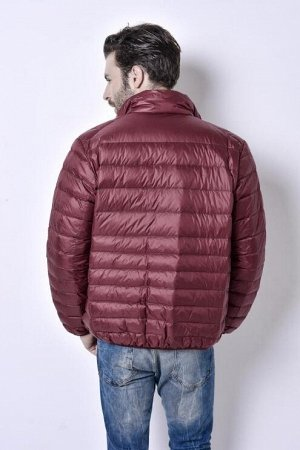 Ультралегкая мужская куртка, цвет бордовый