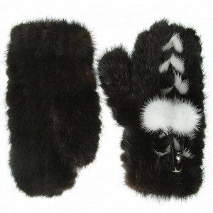 Варежки женские из меха норки, Россия