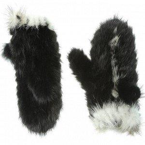 Варежки женские (норка-вязка)