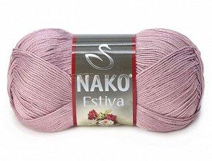 Мягкая, приятная пряжа NAKO ESTIVA нежно-персикового цвета, 5 мотков по 100г..