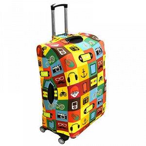 """Чехол для чемодана """"L"""" 68х51см, 78-95л, эластан трикотаж (Ки"""
