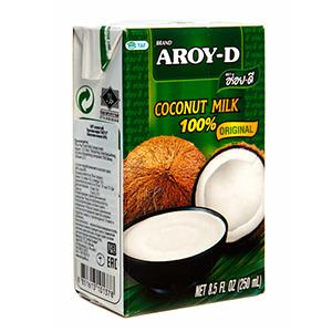 Кокосовое молоко AROY-D  250мл, Tetra Pak