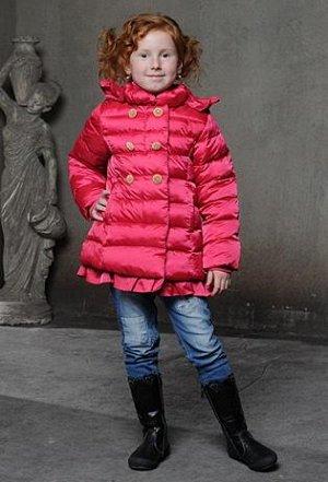 . Пальто осень ярко-розовый