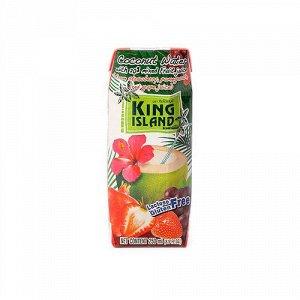 Кокосовая вода с фруктовым соком (клубника, гранат, виноград) King Island