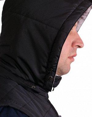 Жилетка Утепленный жилет прямого кроя на утеплителе. Съемный капюшон и высокий воротник для вашего удобства. Отличный вариант для прогулок прохладным весенним вечером.Жилетка мужская.Модель МЖ2. Разм