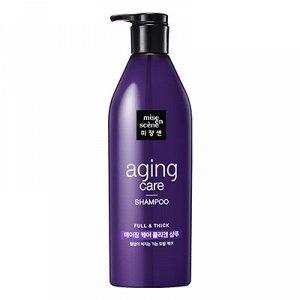 Mise-en-scene Антивозрастной шампунь для волос с пудрой чёрного жемчуга Mise en scene Aging care shampoo, 680мл