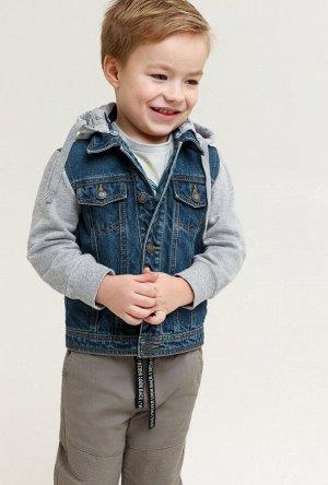 Джинсовая куртка для мальчика (Акула) на 116-122