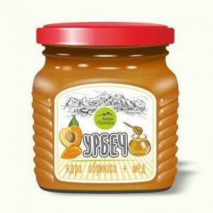 Урбеч сладкий Абримёд (мед+абрикосовая косточка). 230гр