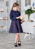 Платье школьное Кирстен, цвет т.синий