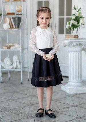 Школьная юбка Велина, цвет черный