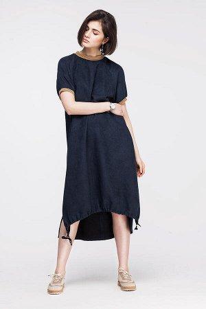 Свободное платье из тонкой эко-замши, D22.438