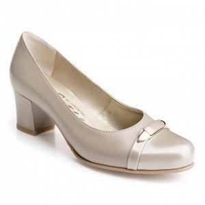 Бежевые туфли с увеличенной полнотой. Модель 2292 беж какао