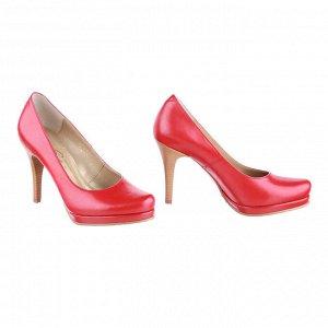 Красные туфли на платформе. Модель 2192 красные