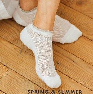 Носки женские короткие ажурные/сетка