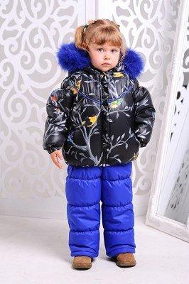 Зимний костюм на девочку р.110. Яркий и легкий!