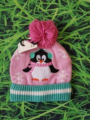 Шапочка с пингвином