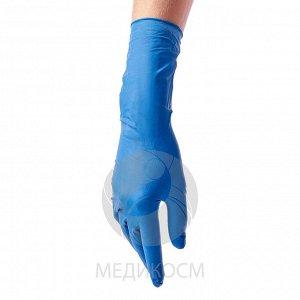 Поменяю на размер М. Перчатки BENOVY Latex High Risk, перчатки латексные, повышенной прочности, синие, M, 25 пар в упаковке
