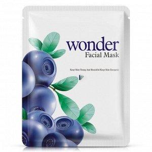 BIOAQUA Wonder Маска-салфетка для лица с экстрактом голубики (максимальное увлажнение)