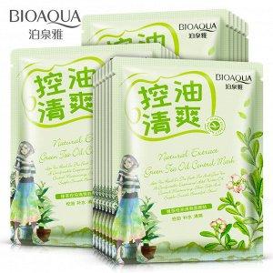 BIOAQUA Маска-салфетка для лица с зеленым чаем