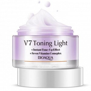BIOAQUA V 7 Увлажняющий крем для лица с тонирующим эффектом (Фиолетовый)