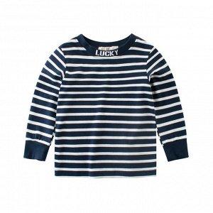 Лонгслив для мальчика Темно-синий (Яркая одежда для детей)