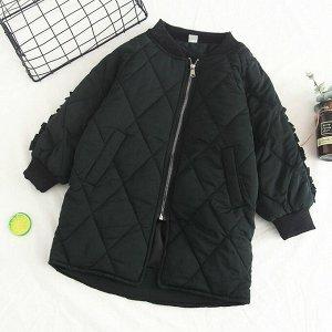 Куртка замер по изделию Бюст 100 см длина 68 см рукав от плеча 50 см Свободный фасон