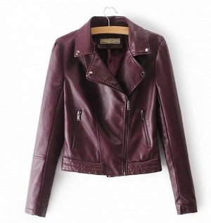 Кожаная куртка винная