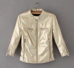 Кожаная куртка золото