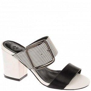 997002/02-01 черный/белый иск.кожа женские туфли открытые