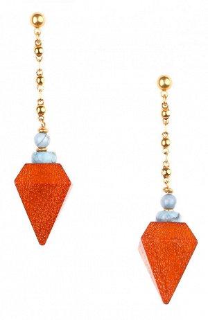 WOOD DIAMONDS серьги 12-73906