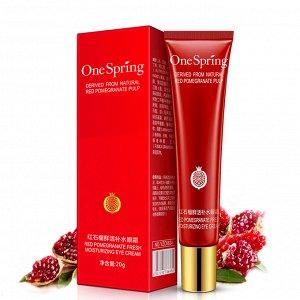 One spring Увлажняющий крем для кожи вокруг глаз с экстрактом красного граната